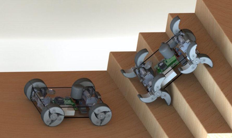 Учёные создали робота с колёсами, которые могут превращаться в ноги