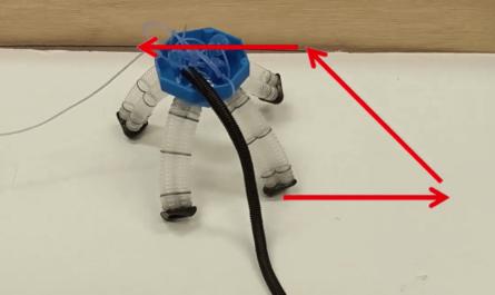 Пневматический шагающий робот
