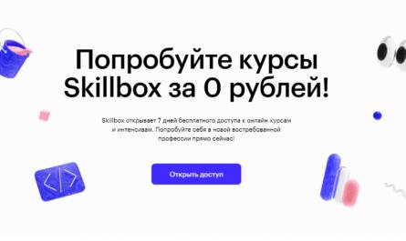Курсы Skillbox за 0 рублей