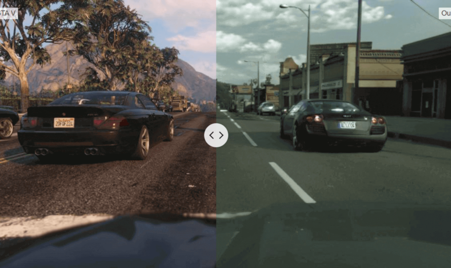Нейросеть сделала графику в игре GTA V фотореалистичной