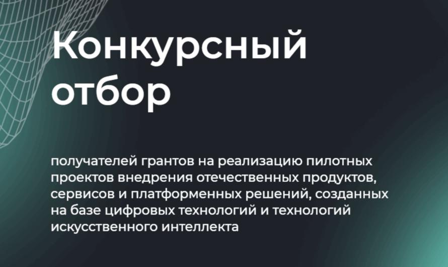 Стартовал отбор пилотных проектов внедрения российских решений в IT и AI