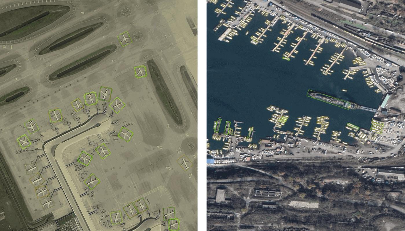 FAIR1M датасет спутниковых изображений