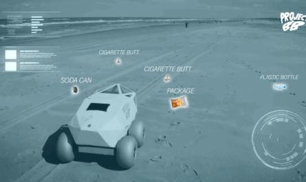 BeachBot собирает окурки на пляже