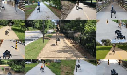 Робота научили пользоваться тротуаром